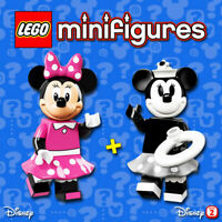 LEGO Disney Minifigures #71012, #71024 - Minnie Mouse / Vintage Minnie - NEW