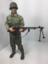 1/6 21ST CENTURY US 2ND RANGER BTN BAR GUNNER  FULLY LOADED! WW2 DRAGON BBI DID