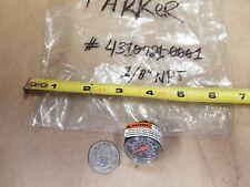"""Parker 4310721-0001 Pressure Gauge 160Psi/Kpa 1/8"""" Npt"""