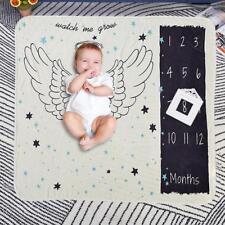 Milestone Photography Newborn Baby Blanket Monthly Animals Numbers Photo Props