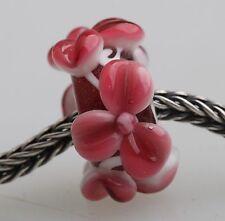 1pcs Big Flowers MURANO GLASS BEAD LAMPWORK Fit European Charm Bracelet QH020