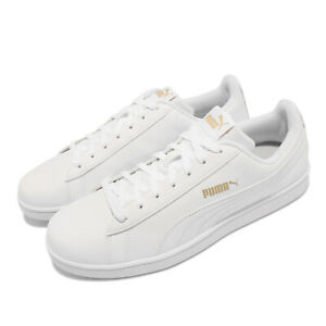 Puma Up Trainers White Gold Men Casual Lifestyle Shoes Sneakers 372605-07