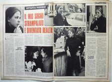 OTTAVIA PICCOLO => Ritaglio 2 pagine 1970  // ITALIAN CLIPPING