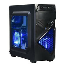 AMD Quad Core Custom Built Gaming PC Computer Desktop 16GB 2TB Blue LED