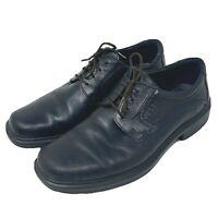 ECCO Mens Berlin Plain Toe Oxford Dress Shoes Black Lace Up 49754 Sz 9 EUR 43