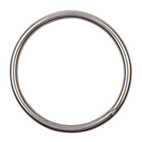 2PCS Stainless Steel Welded Ring Heavy Duty O-Rings Smooth Marine Connectors