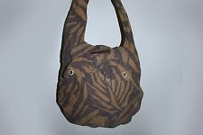 Marc by Marc Jacobs, Brown Zebra Print, Large Canvas Hobo Bag