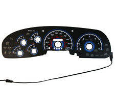 97~98 FORD F150 / EXPEDITION Black Blue Glow Gauges Face OVERLAY
