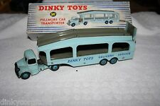 DINKY TOYS 582 PULLMORE CAR TRANSPORTER 6 RIVETS NEAR MINT BOXED RARE SELTEN