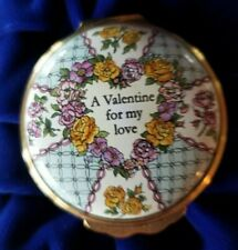 Halcyon Days Enamel Box St. Valentine's Day 1997 w/orig box & Cert * Free Ship*