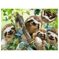 Full Drill 5D DIY Diamond Painting Lovely Sloth Cross Stitch Embroidery Art I6O8
