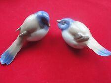 BING & GRONDAHL PESSIMIST & OPTIMIST 1633 & 1635 TITMOUSE BIRDS PORCELAIN