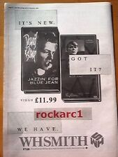 DAVID BOWIE Blue Jean Video 1984  UK Poster size Press ADVERT 16 x 12""