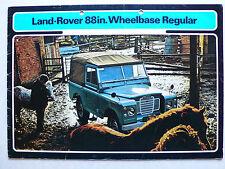 Prospekt Landrover Serie III 88in. Wheelbase Regular, 2.1973, 16 S., englisch