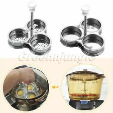 Stainless Steel Egg Poacher With/Without bottom hole Egg Pod Pan Mould MakerTool