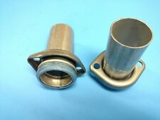 """65-71 FORD 351 360 390 2.25"""" EXHAUST MANIFOLD DOWN PIPE STUB W/DONUT GASKET USA"""