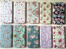 iPhone 6 Leather Flip Case - 10 Floral Designs - UK Great Quality