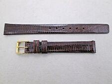 Speidel 11mm lady's dark brown genuine lizard watch band strap Canada NOS