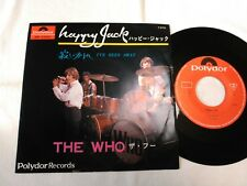"THE WHO HAPPY JACK / I'VE BEEN AWAT 7"" 45 DP-1522 JAPAN ORIGINAL POLYDORE"