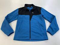 Mens SPYDER Blue Black  Front Zip Jacket (SMALL)