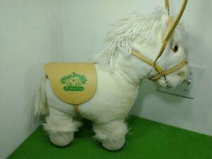 Cabbage Patch Kids White Show Pony Horse Plush Stuffed Animal Saddle Bridle 1984