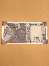 India Paper Money - Unc New Ten Rupees Dated 2018