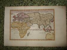 1665,WORLDMAP,EUROPE ASIA AFRICA AUSTRALIA,SARMATIA,INDIES-'THULE'MENTIONNED!