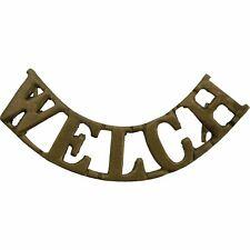 Original WW2 Welch (Welsh) Regiment Shoulder Title Badge - BW75