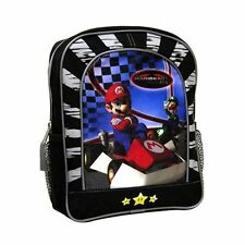 "Backpack 11"" Nintendo Wii Mariokart DS Black Blue Checker New"
