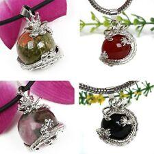 15 Styles Amethyst Jade Gemstone Dragon Wrap Ball Bead Pendant For Necklace L92