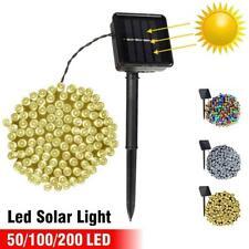 50-200 Led Solar Power Fairy Light String Lamp Party Xmas Deco Garden Outdoor NE