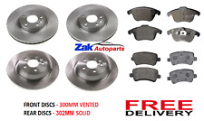 FITS RANGE ROVER EVOQUE 2011-2015 FRONT & REAR BRAKE DISCS AND PADS COMPLETE KIT