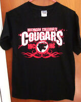 MICHIGAN COLLEGIATE HIGH SCHOOL small tee Cougars tribal T shirt Warren MCHS