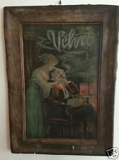Antique Velvet Tobacco Tin Self Framed Sign MAKE ME AN OFFER!!!