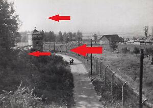 S10, Pressefoto Lager Buchenwald kurz nach der Befreiung Wachturm 1945 !