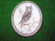 "original acrylic OWL   canvas board painting direct from the artist 9.5"" X 12"""