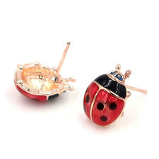 Cute Insert Earrings Exquisite Paint Stud Earrings Red Oil Ladybug Ear Studs FT