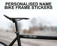 4x CUSTOM PERSONALISED NAME BIKE FRAME STICKERS/DECALS BICYCLE ROAD CYCLE BMX