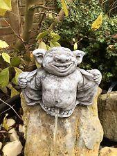 Wasserspeier Wichtel Troll Steinfiguren Garten Deko Steinguss Fantasiefigur W13