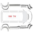 Kurz Reparaturblech Satz für VW TRANSPORTER T4 BJ. 1990 - 2003