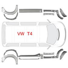 VW TRANSPORTER T4 BJ. 1990 - 2003 kurz Reparaturblech Satz