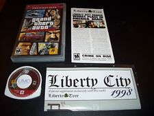GRAND THEFT AUTO LIBERTY CITY STORIES GAME COMPLETE + MAP FOR PSP GTA