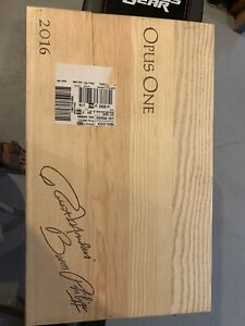 OPUS One 6 pack Wood Box Case Crate 2017 Empty