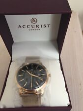 Accurist Unisex-Adult  Watch, Analogue Classic Display and Gold Plated Strap