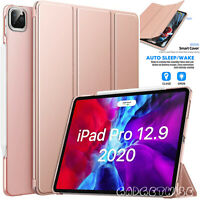 """For Apple iPad Pro 12.9"""" 2020 4th Generation Leather Flip Stand SMART CASE Cover"""