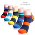 New 5 Pairs Random Men's Coton Low Cut Sockst Multi-Color Ankle Casual Socks Q13