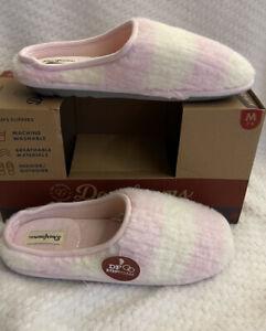 Women's Slippers Size M 7-8 DEARFOAMS pink Memory Foam Indoor/Outdoor