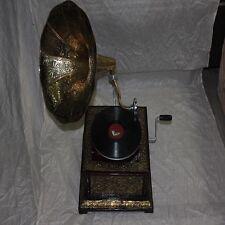 GRAMOPHONE Vintage Original Octagonal Gramophone W+FREE SHIPPING