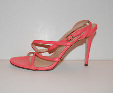 J.Crew Leather Strappy Heels Sandals Coral 7 NEW