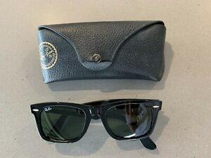 Rayban Black Wayfarer Square Sunglasses